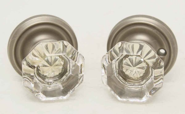Pair of Glass Knobs with Large Star Bullet