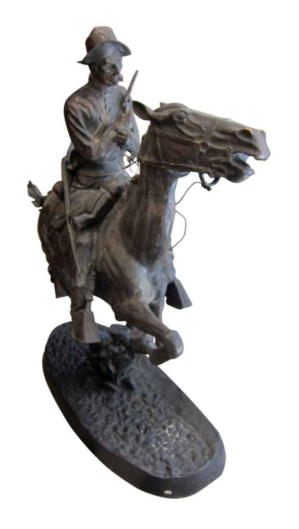 Bronze Replica of 'Trooper of the Plains' by Frederic Remington