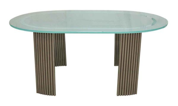 Art Deco Glass Top Dining Table