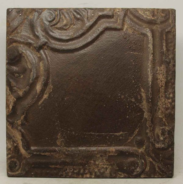 Decorative Corner Brown Tin Panel