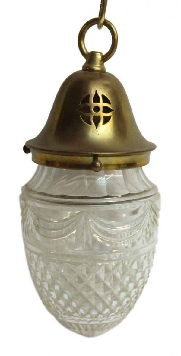 Small Glass Fixture with Brass Fitter