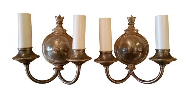 Antique Two Arm Bronze Finished Sconces