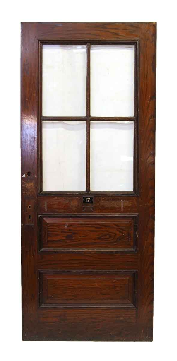 Door with Four Glass Panels