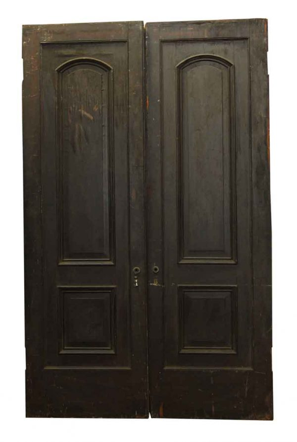 Pair of Two Arched Panel Doors