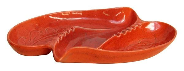 Coral Red Colored Ashtray