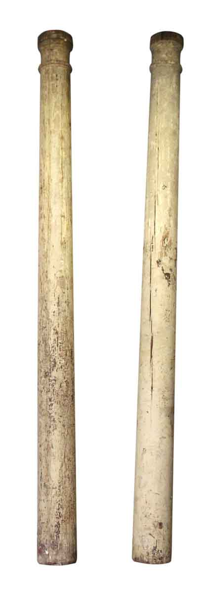 Pair of Solid Wood Columns