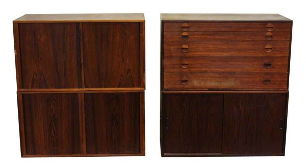 Four Piece Danish Cabinet Set