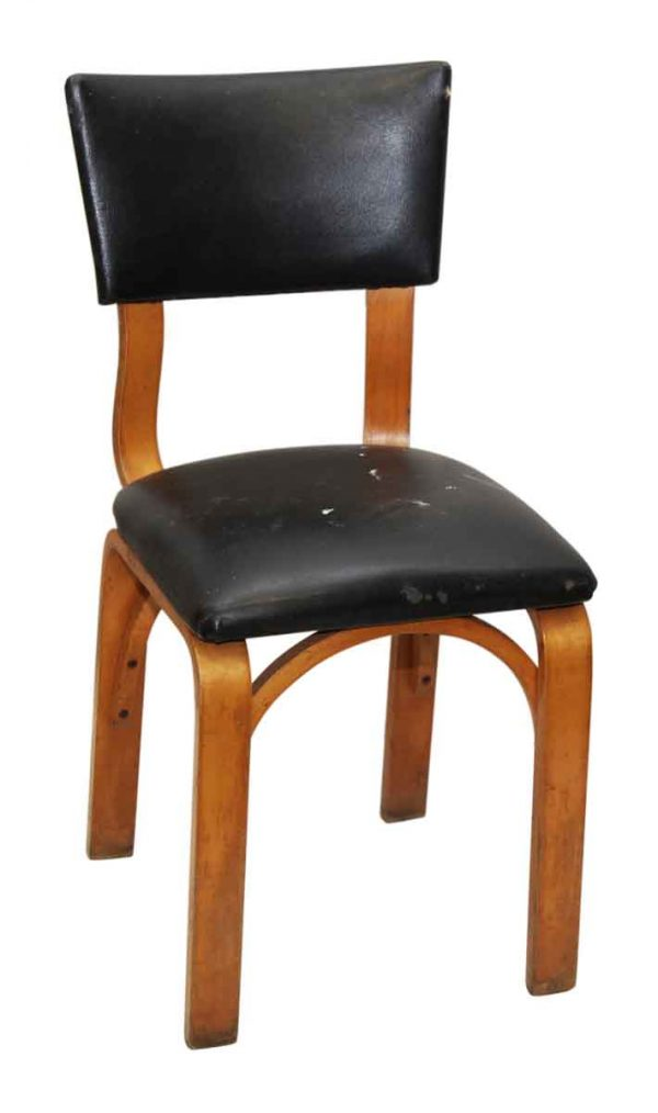 Thonet Black Chair with Light Wood Tone
