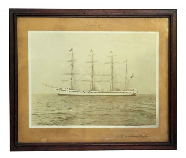 Antique Quevilly Boat Photograph