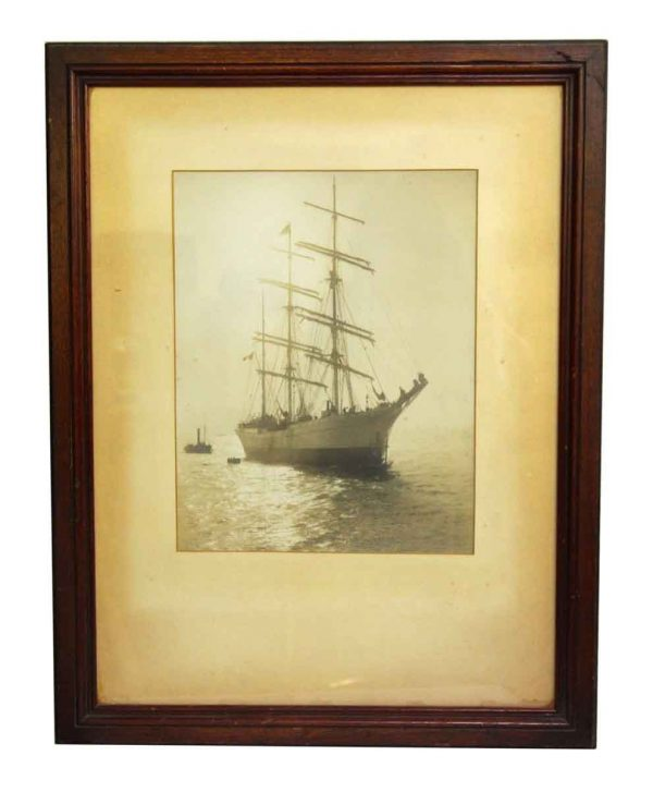 Framed Matted Boat Photograph