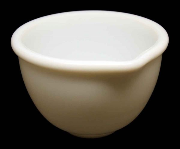 White Milk Glass Bowl with Spout