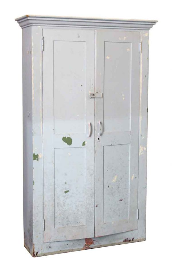 Painted Blue Wood Cabinet