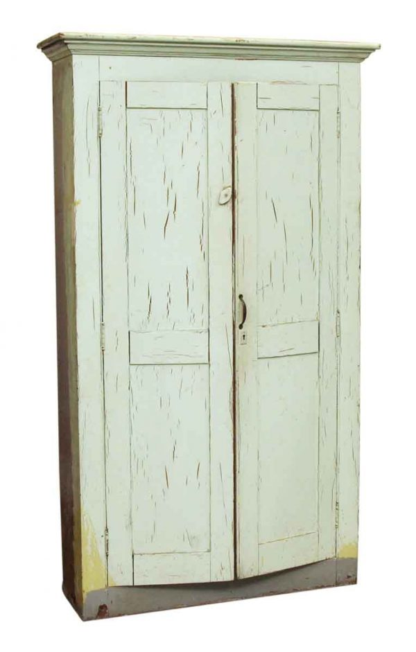 Painted Green Wood Cabinet