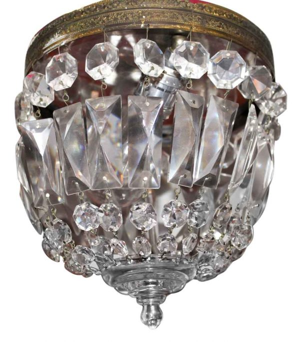 Petite Crystal Basket Flush Mount Fixture