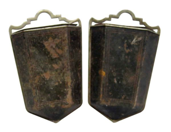Pair of Two Metal Wall Ashtrays