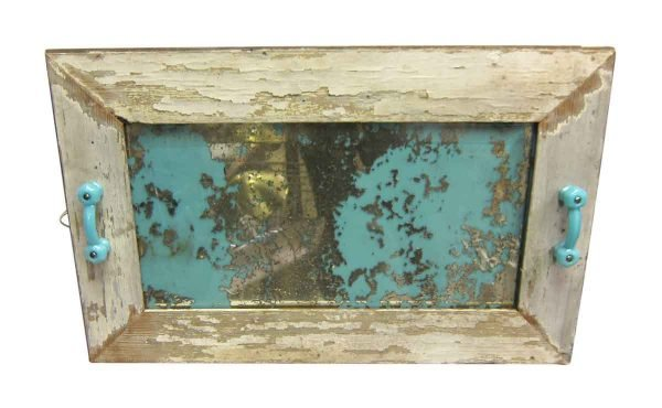Savaged Wood Mirror with Distressed Glass