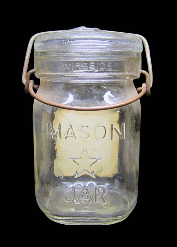 Single Blue Mint Glass Jar