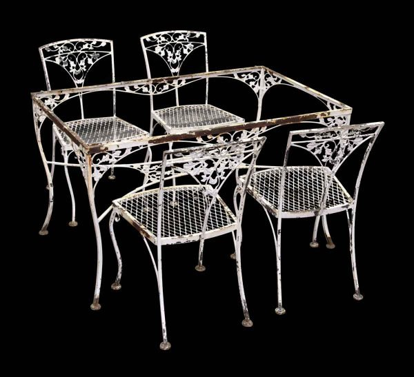 Vintage Iron Dining Room Table & Chairs