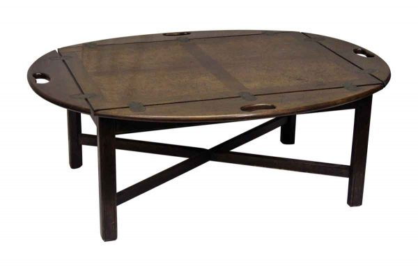 Wooden Oval Butler's Table