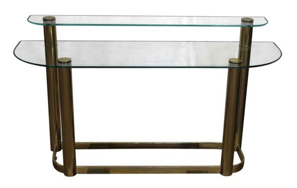 Two Tier Glass Console Table