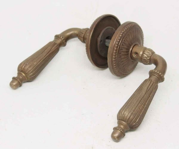 Bronze Lever Set with Ornate Rosettes
