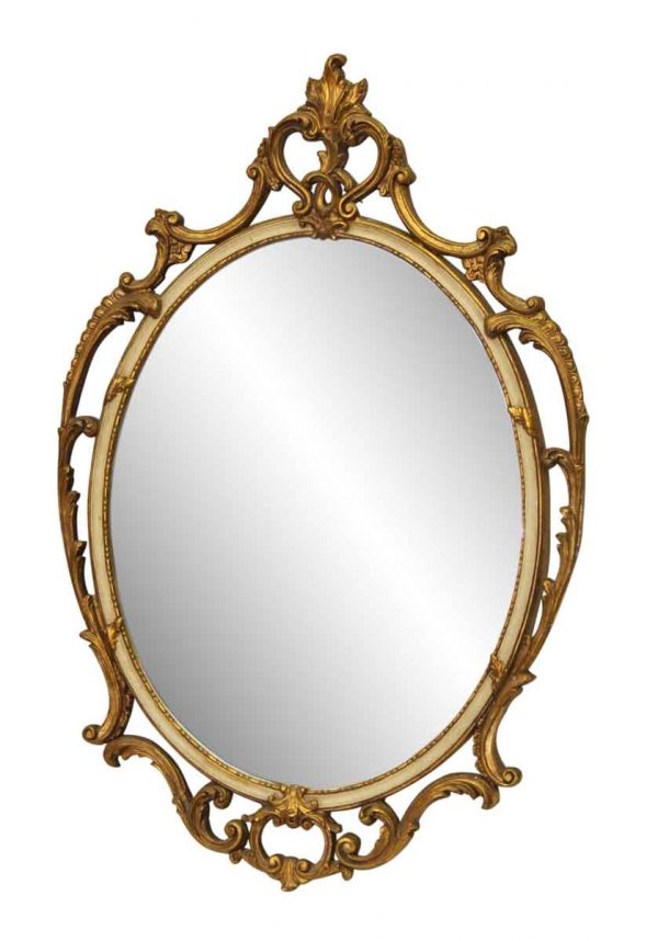 Gilded Ornate Oval Mirror