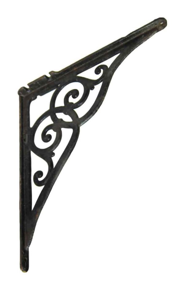 Single Decorative Black Sink Bracket
