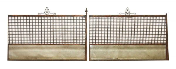 Metal Grills with Glass Panels