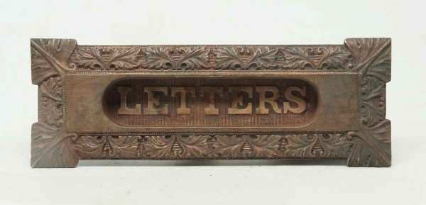 Bronze Ornate Letters Mail Slot