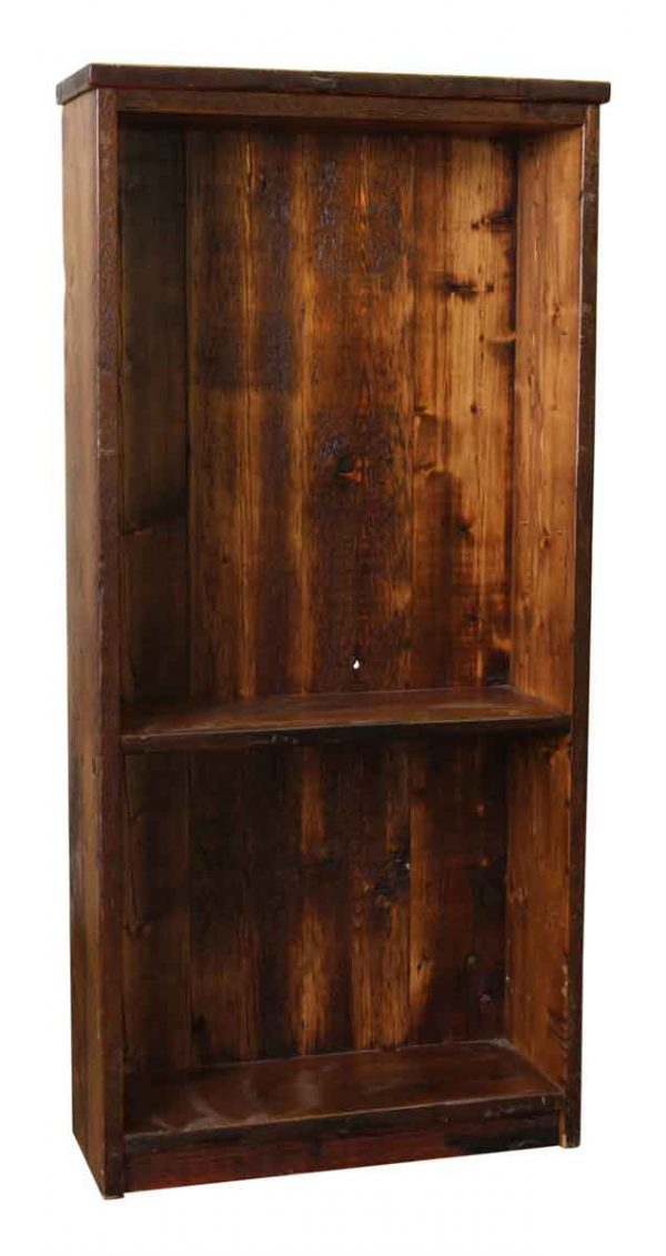 Pine Two Shelf Wooden Bookcase