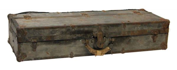 Old Wooden Narrow Trunk