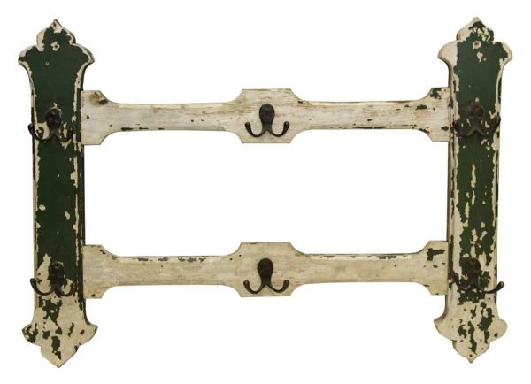 Wooden Rack with Six Double Hooks