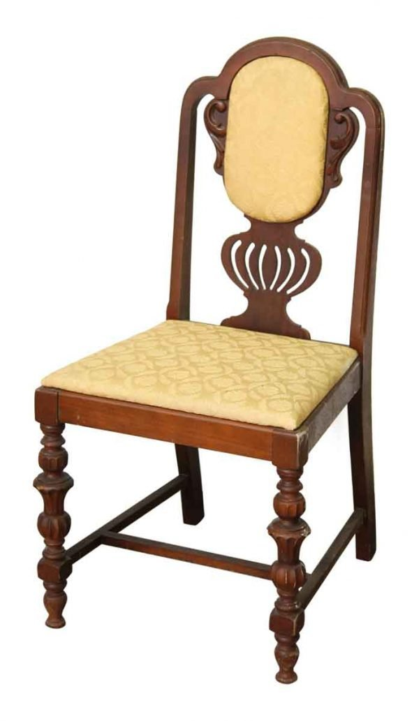 Queen Anne Style Wooden Chair