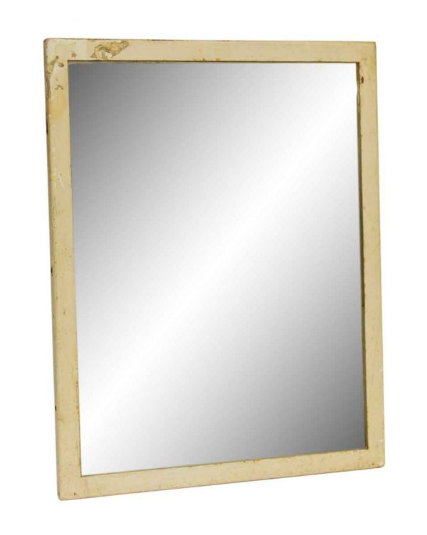 Plain Cream Steel Mirror