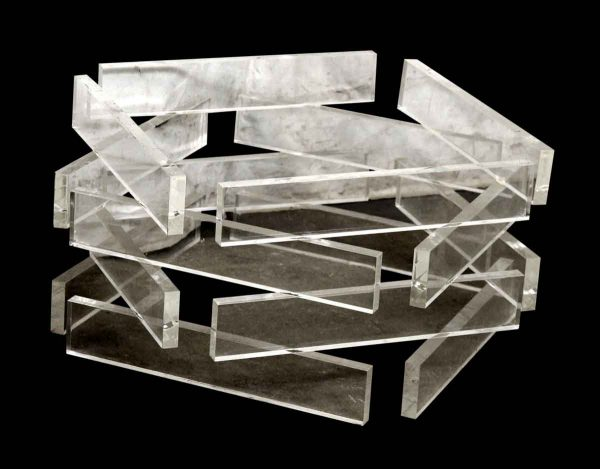 Lucite Square Table Base
