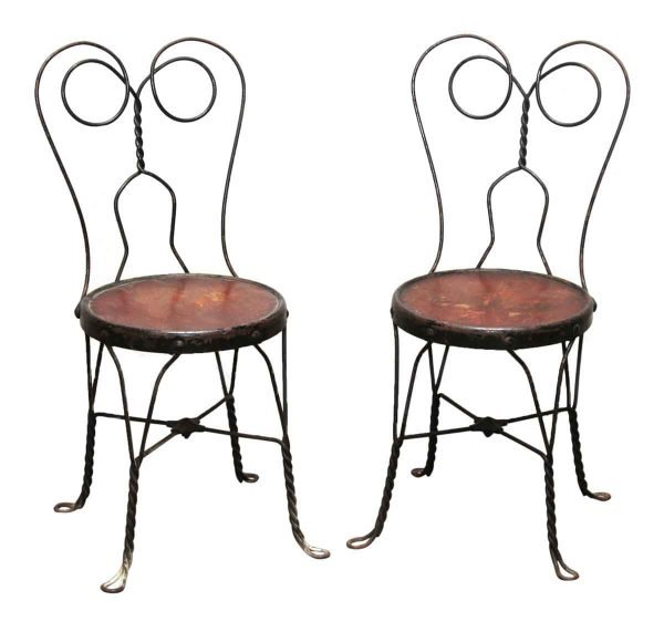 Pair of Ice Cream Parlor Chairs