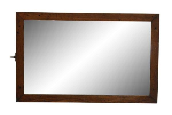Medium Wood Tone Oak Framed Dresser Mirror