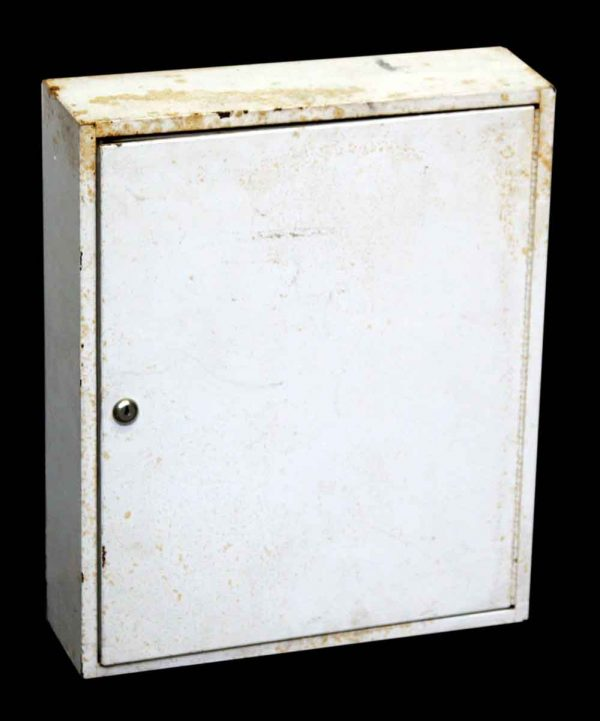 Small White Metal Cabinet
