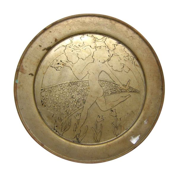 Brass Dancing Women Plate