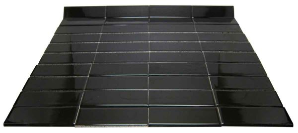 Black Rounded Cap 2 X 6 Tile Set