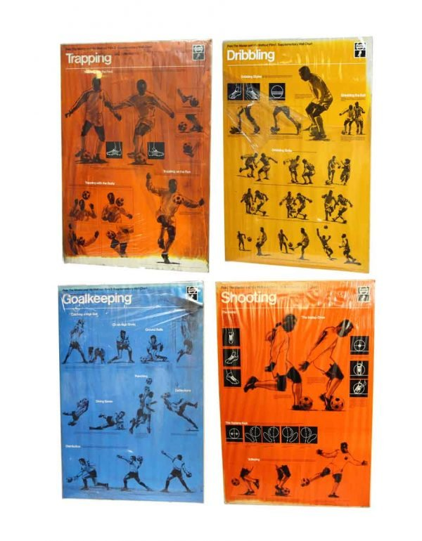 Set of Four Pele Soccer Posters