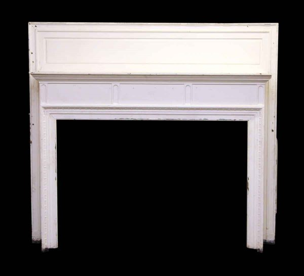 Oak Straight Line with Egg & Dart Wood Mantel