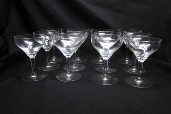Set of Clear Vintage Goblet Glasses