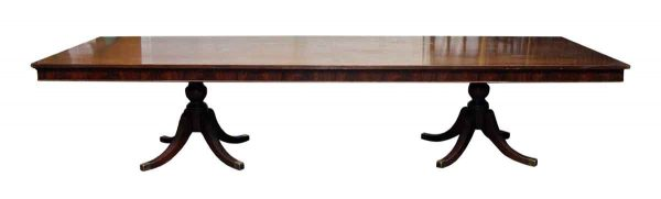 Extra Long Table with Two Pedestal Bases