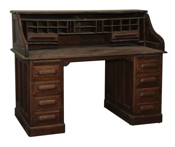 Roll Top Oak Desk