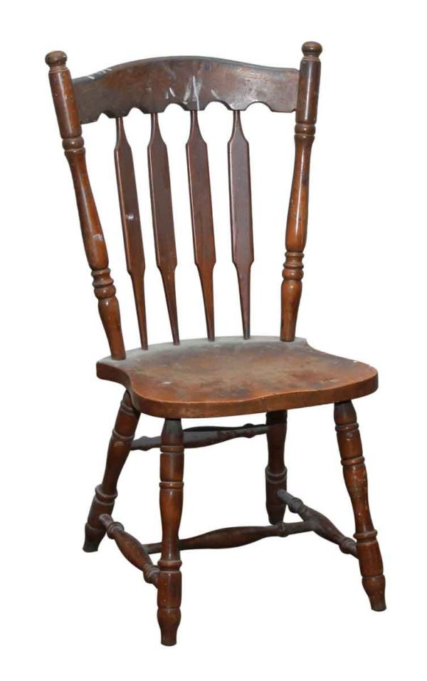 Wooden Arch Bannister Back Chair