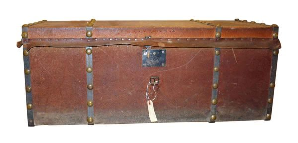 Leather Trunk with Hammered Studs