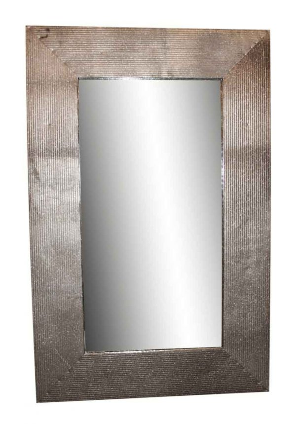 Ribbed Reclaimed Metal Mirror