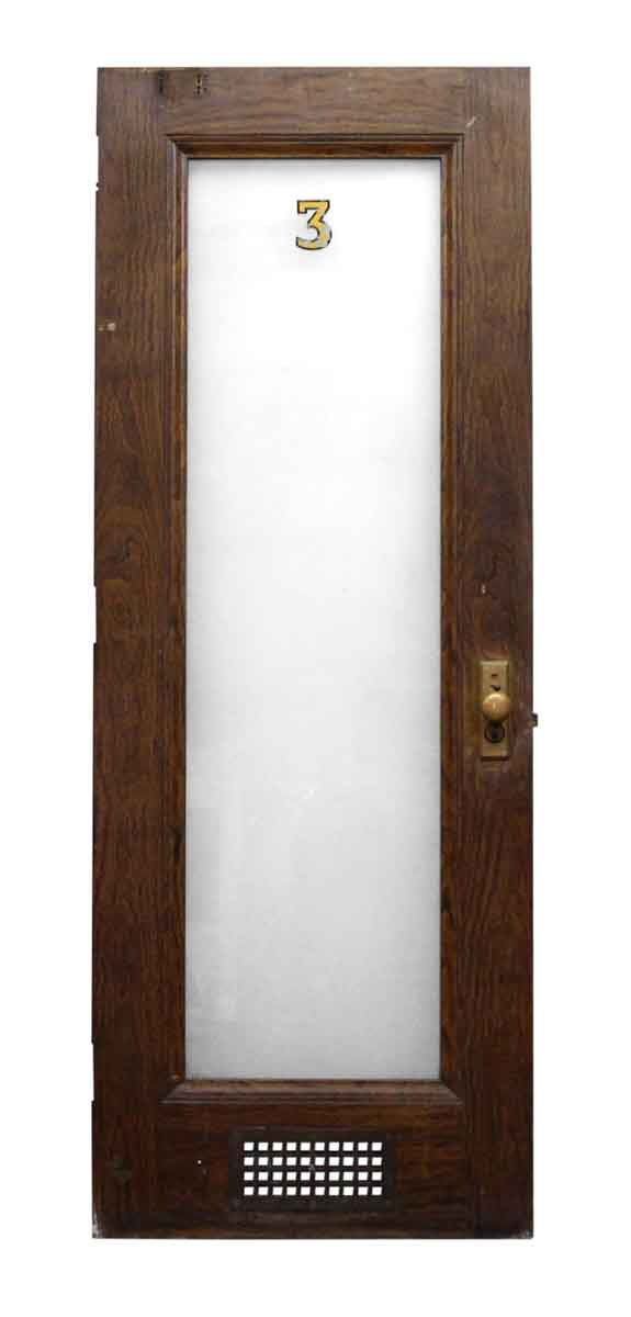 Metal Door with Wood Veneer & Glass Panel