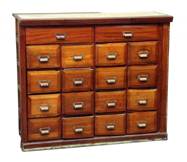 Built in Card Catalog with 18 Drawers